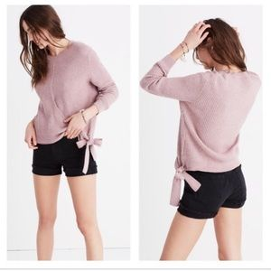 Madewell Side Bow Ribbed Sweater